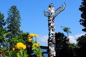 Totem in Stanley Park Vancouver, Canada