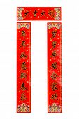 Chinese Spring Festival Couplets,Isolated on White.