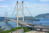 picture of tsing ma bridge  - Tsing Ma Bridge - JPG