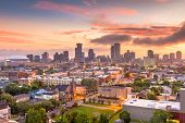 New Orleans, Louisiana, USA downtown city skyline at dawn. poster
