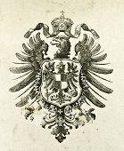 Wappen des Deutschen Reiches. Illustration von Alwin Zschiesche, veröffentlicht am