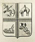 Staatswappen new South Wales (britische Kolonie). Illustration von Alwin Zschiesche, veröffentlicht am