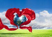 Ícone de coração de terra