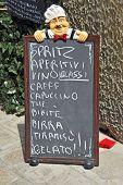 Blackboard In Venice