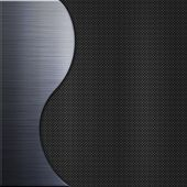 Carbon fiber texture and steel metal plate background