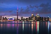pic of urbanisation  - Scenic view at Toronto city waterfront skyline at night