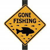 Sign Advising Gone Fishing
