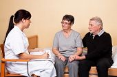 stock photo of bereavement  - support to family members of a patient - JPG