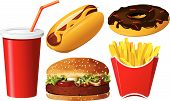 Fast-Food Icon-set