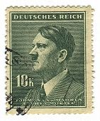 GERMANY - CIRCA 1937: A stamp printed in Germany shows image of Adolf Hitler an Austrian-born German