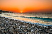 Sunset At Mediterranean Beach