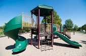 Playground Equipment In A Public Park