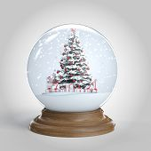 Snowglobe With Christmas Tree And Presents Inside