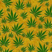 Marijuana Leaf Seamless Background