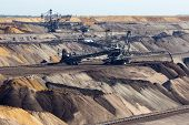 image of open-pit mine  - Large brown coal open - JPG