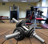 stock photo of rep  - a gym Weights - JPG