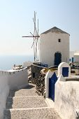 Windmill On Santorini