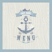 Retro restaurant seafood menu card design