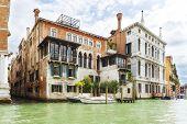 Summer Shot Of Houses Near Grand Canal, Venice