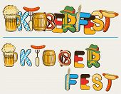 Beer Oktoberfest Lettersl.vector Text Illustration Isolated On White