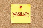 Wake Up Sticky Note
