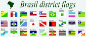 Brasil Districts Flags