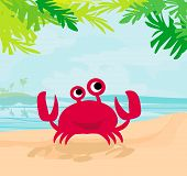 Illustration Of A Funny Crab