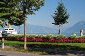 Europe, Switzerland, Lausanne, Lake Geneva