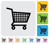 stock photo of trolley  - Shopping cart icon - JPG