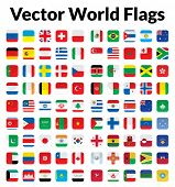 Vector World Flags poster