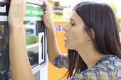Woman Desperate About High Price Of Gas