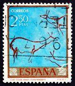 Postage Stamp Spain 1967 Deer, Cave Painting