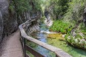 foto of board-walk  - Board walk through Cerrada de Elias gorge in Cazorla National Park - JPG