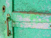 Old Painted Wooden Door