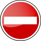 vector circle traffic sign,forbidden