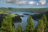 Vista Do Rei Viewpoint At Sete Cidades, San Miguel, Azores