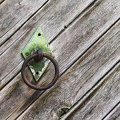 Perilla de puerta de hierro Circular viejo