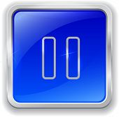 Pause Icon On Blue Button