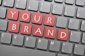 Your brand on keyboard
