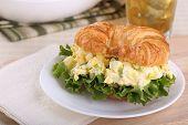 Egg Salad On Croissant Roll