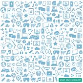 smart device icons set - modern, new technology, multimedia, smart devices elements
