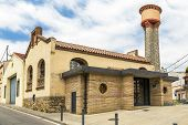 stock photo of slaughterhouse  - Library of Sant Celoni former municipal slaughterhouse Barcelona Spain - JPG