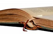 stock photo of leather-bound  - The old leather - JPG