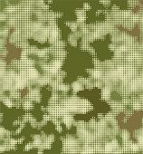 Vector military dotted camouflage texture background.
