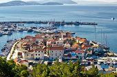 Dalmatian Town Of Tribunj, Vodice Aerial View