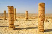 Ruins of Avdat - ancient town founded and inhabited by Nabataeans in desert of Negev in Israel.