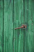 Heck on green Door