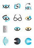 Optik-Auge-Icon-set