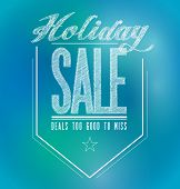 Blue And Green Holiday Sale Poster Sign Banner