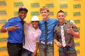 Dexter Darden, Mykal Williams, Austin Powell and Michael Pericoloso at the